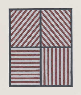 four rectangles with horizontal, vertical, and diagonal lines in them