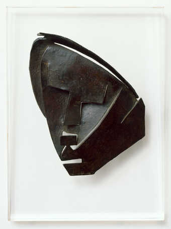 Abstract, cut-out mask