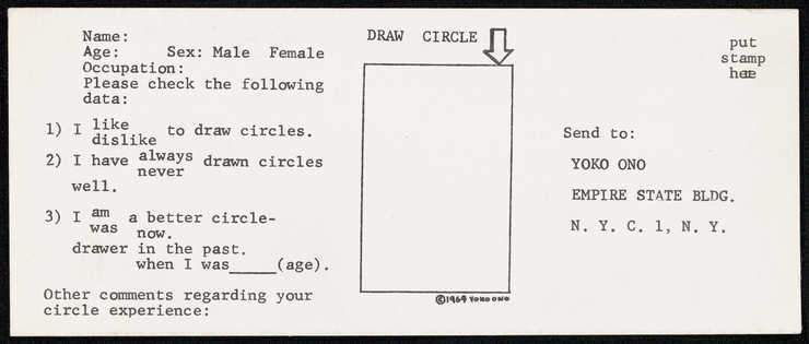 Draw a circle and send it to Y.O.