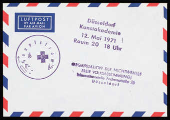 Airmail envelope with page of chemistry textbook (WAC is missing the chemistry textbook page...