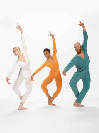 COSTUMES: Thick cotton long sleeve jumpsuits in faded black, red, blue. Women's long sleeve...
