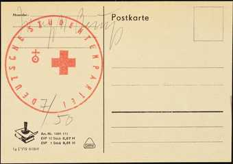 One of three postcards from the German Democratic Republic, stamped