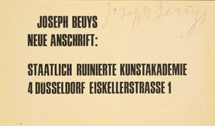 Text refers to political discussions that went on at the Staatliche Kunstakademie Dsseldorf,...