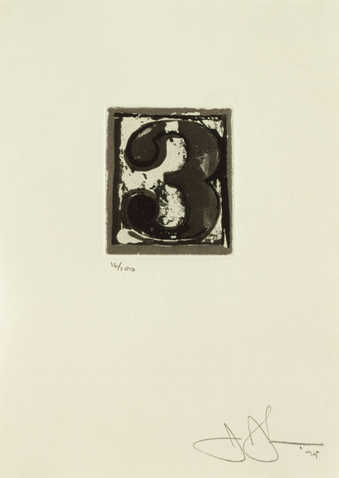 An image of the figure 3 printed in black.  An intaglio print from one copper plate.