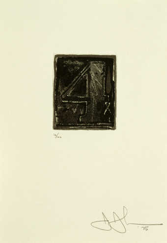 An image of the figure 4 printed in black.  An intaglio print from one copper plate.