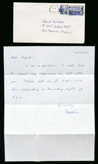 Letter  with envelope written to Roberta.