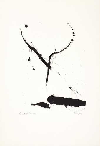 A lithograph from one stone.  From a series of seven prints.