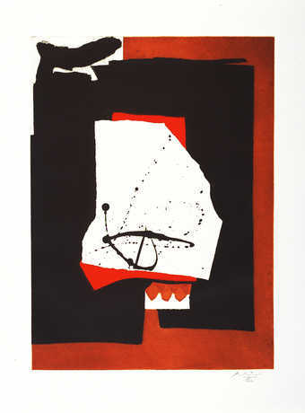 An aquatint form one copper plate printed in red and brown; lift-ground etching and aquatint from...