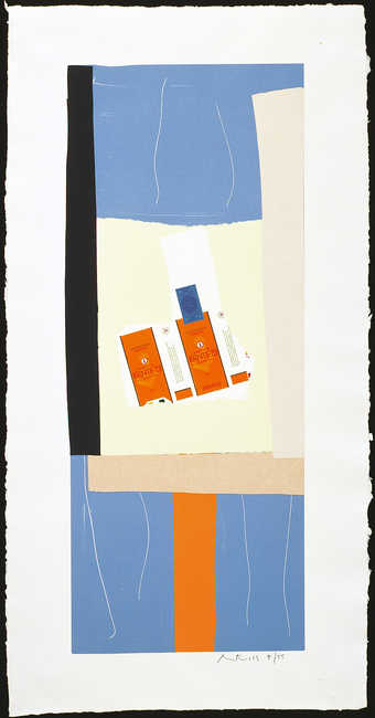 duplicate copy; lithograph, paper collage