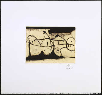 A suite of seven lift-ground etchings with aquatint from on copper plate printed in  black on...