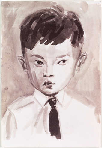 portrait of Rirkrit Tiravanija as a child