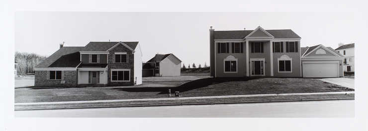 An image of newly constructed vacant homes.