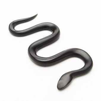a black featureless snake