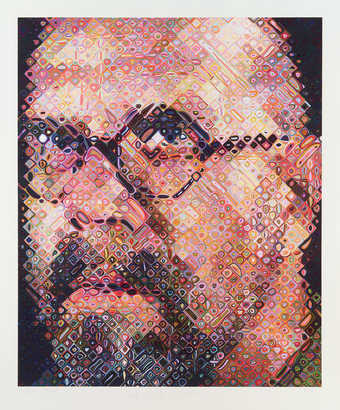 A self portrait printed in 111 colors.