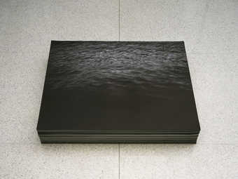 endless copies; image of water; exhibited in a stack 7 inches high*1999-2001 PC installation...
