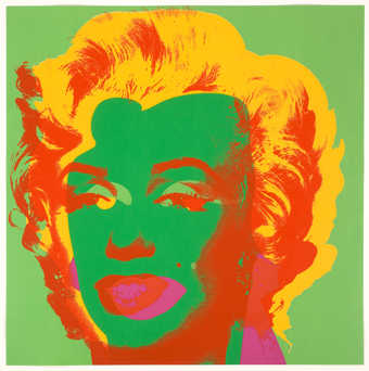 an image of Marilyn Monroe on a green background