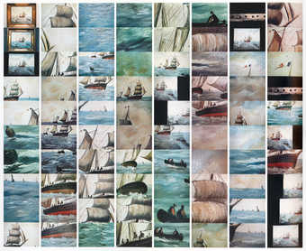 images of a painting of a boat