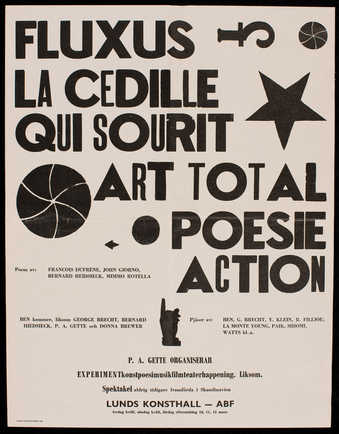 Black print on grey paper; second version of a poster announcing a concert that occurred at Lunds...
