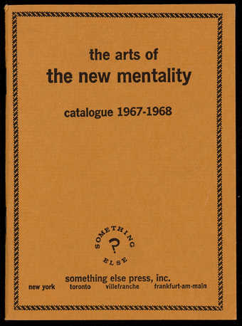 Catalog and essay by Higgins; staple bound.