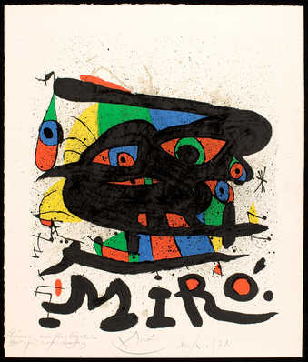 Miro figures in primary colors