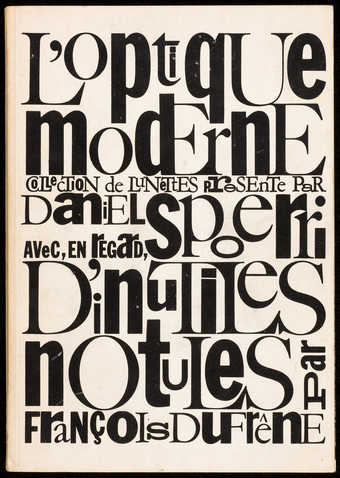 Fluxus publication designed by Maciunas.
