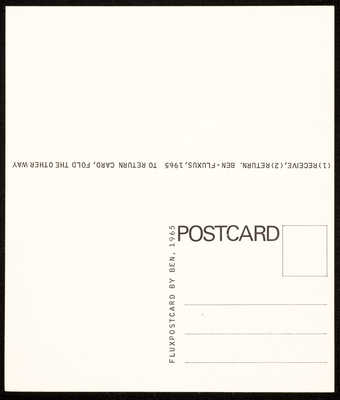 A postcard printed on both sides, text in English.