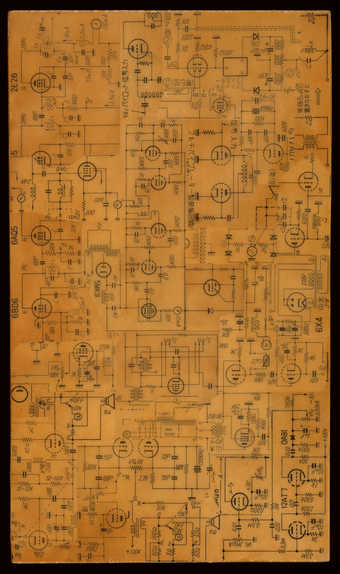A constructed circuit board diagram.